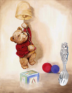 Teddy Bear with Silver plated Spoon