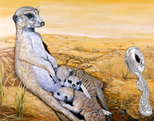 Meerkat Mom with Seahorse Baby Spoon