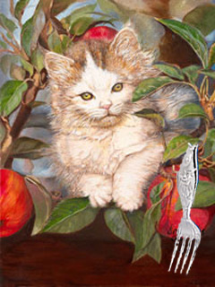KITTEN p a Tree fne art print Gift