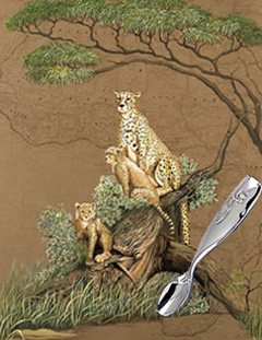 Mother Africa-Cheetahs with Whale Feeding Spoon