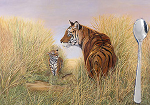 Playtime with Dad-tigers