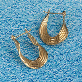 18K Gold twist earrings