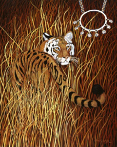Backward Glance-Tiger, fne art print