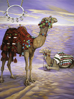 Camels-Contented?, fine art print on canvas