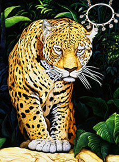 Don't Move-Jaguar, fine art print on canvas