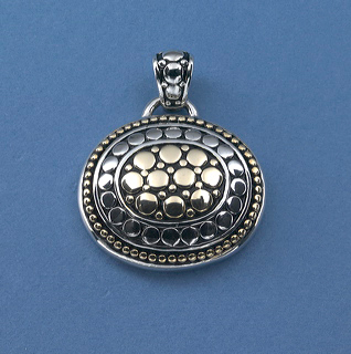 Silver and gold Italianate pendant