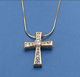 Gold and CZ Cross